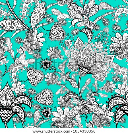 scenic flower pattern top view