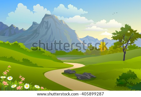 scenic outdoors  'mountain and