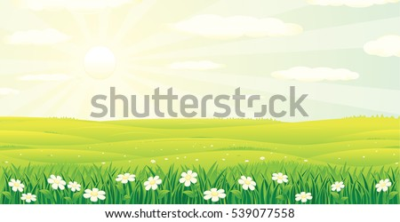 scenic summer day landscape