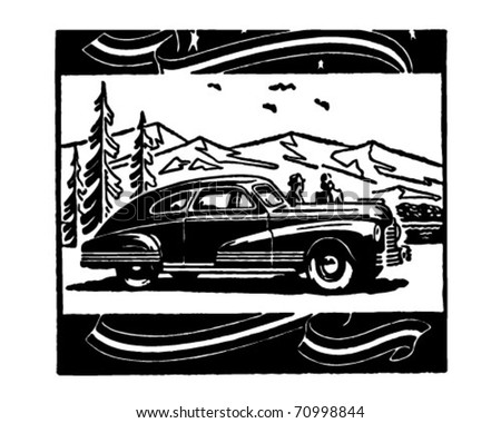 Scenic Vista - Retro Ad Art Illustration