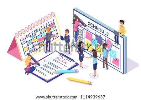 schedule and plan poster with