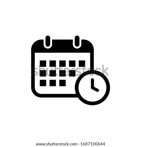 Schedule icon. Calendar, time icon vector illustration Stock photo ©