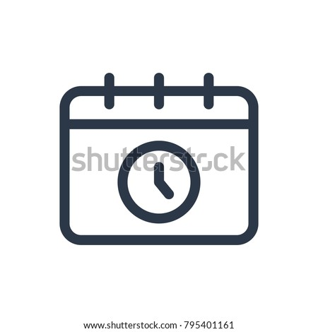Schedule icon. Isolated calendar and schedule icon line style. Premium quality vector symbol drawing concept for your logo web mobile app UI design.