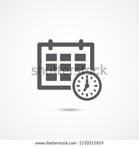 Schedule icon on white background