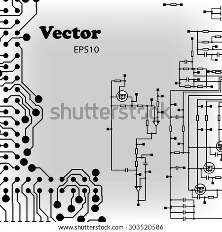 schematic structure, gray background for communication stock, schematic