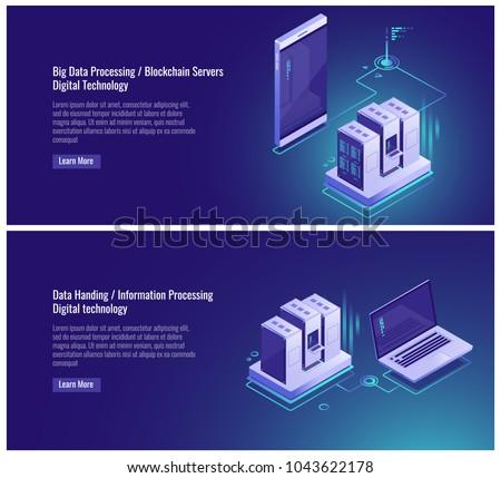 Scheme topology of network, data upgrade, clone of file structure, cloud backup copy, server room, cloud service smartphone, laptop vector illustration on ultraviolet background