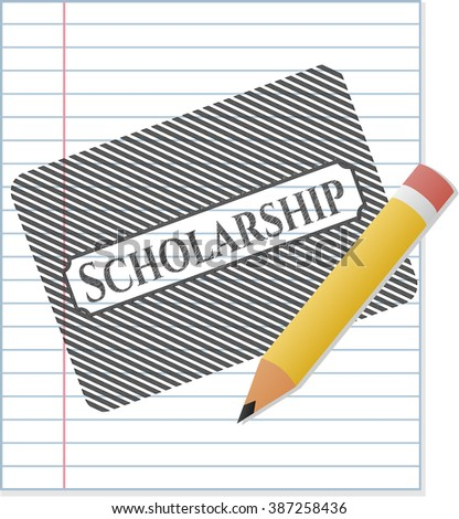 Scholarship with pencil strokes