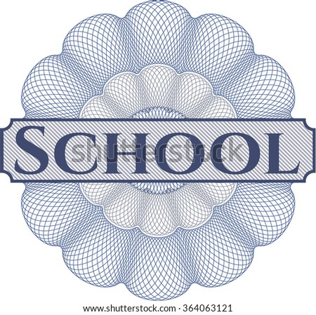 School abstract rosette