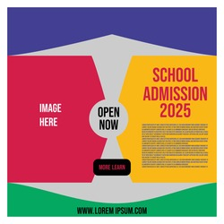 school admission social media banner