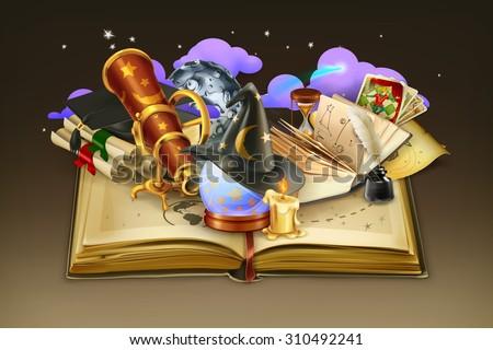school and book  vector