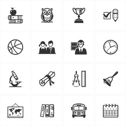 School and Education Icons - Set 3