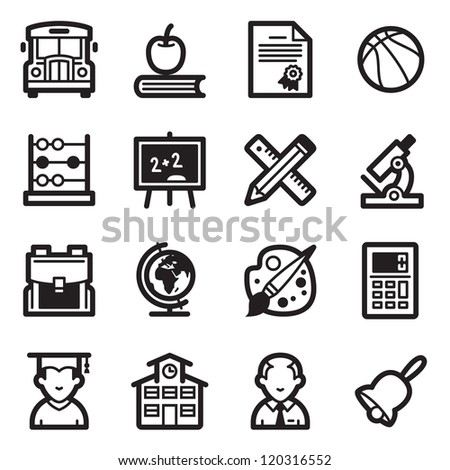 School and Education Icons - Simpla Series