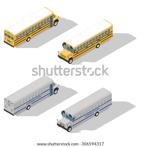 school and prison buses