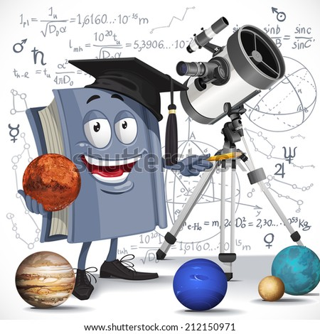 school astronomy textbook with