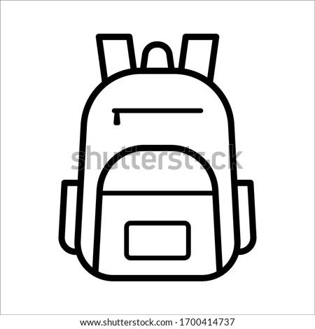 school bag icon vector design template Stockfoto ©