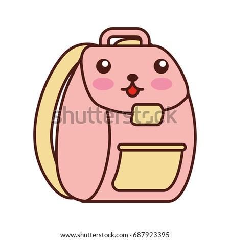 school bag kawaii character
