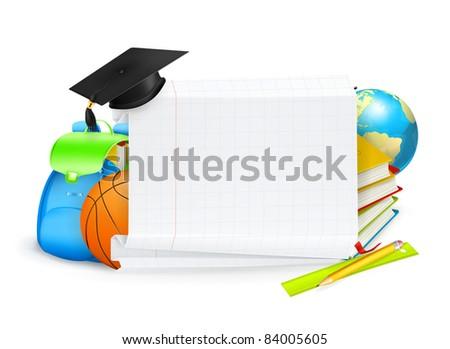 School banner, vector