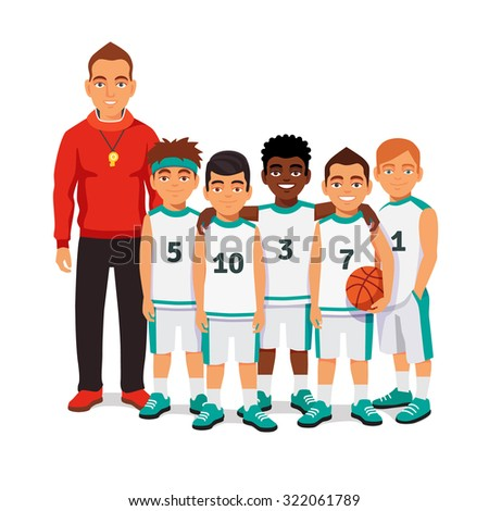 school boys basketball team