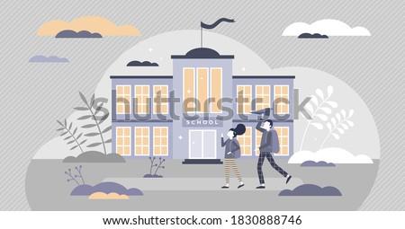 school building exterior with