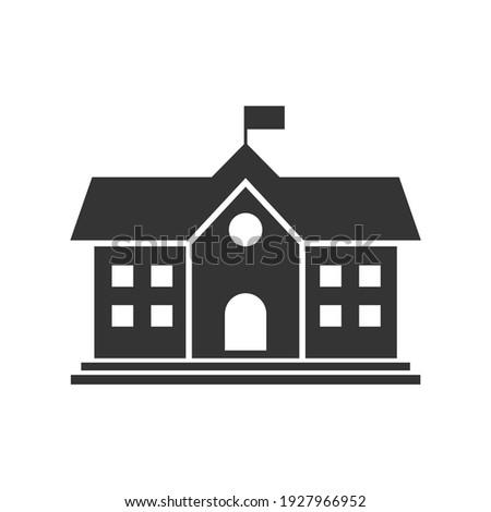 School building icon. vector illustration.