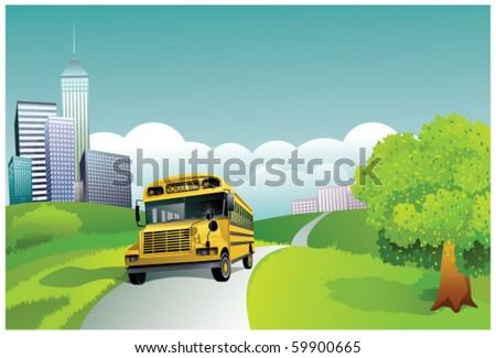 School Bus - stock vector