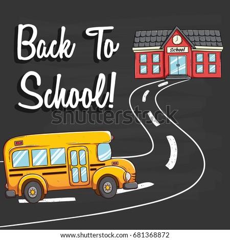 school bus going to school