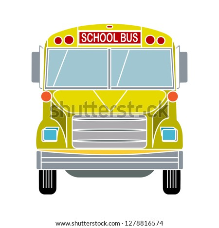school bus icon- transportation symbol-truck illustration-schoolbus vector-automobile symbol