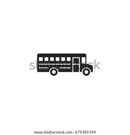 school bus icon vector isolated