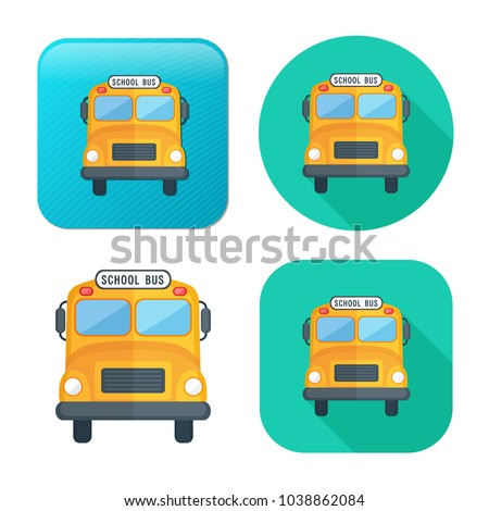 school bus icon - vector transportation vehicle