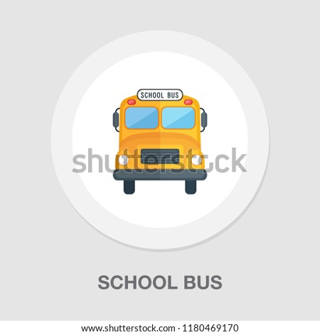 school bus icon - vector transportation vehicle