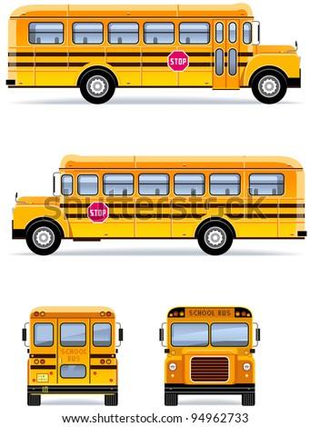 School bus  in vector  (Set #32)