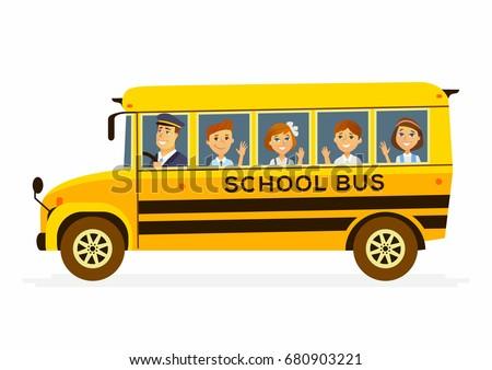 school bus   modern vector