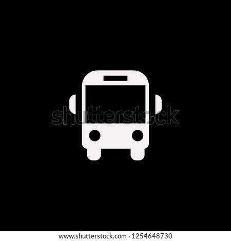 school bus vector icon. flat school bus design. school bus illustration for graphic