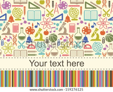 School children background with place for text  - stock vector