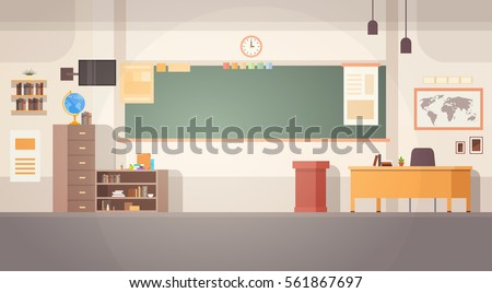 school classroom interior board ...