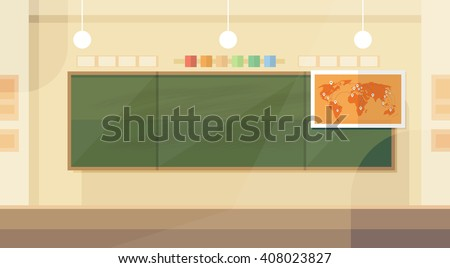 school classroom interior board