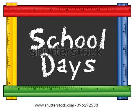 school days  chalk text on