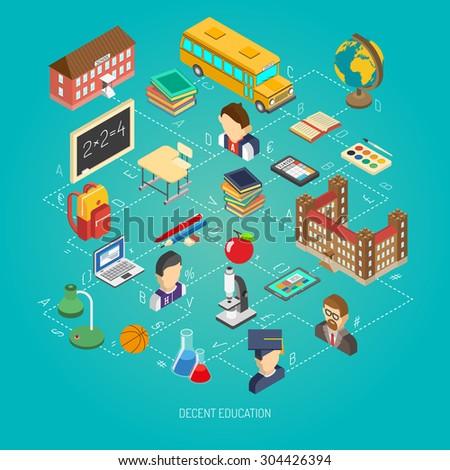 school education concept poster