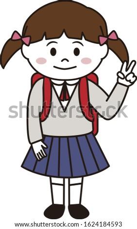 school girl in uniform with