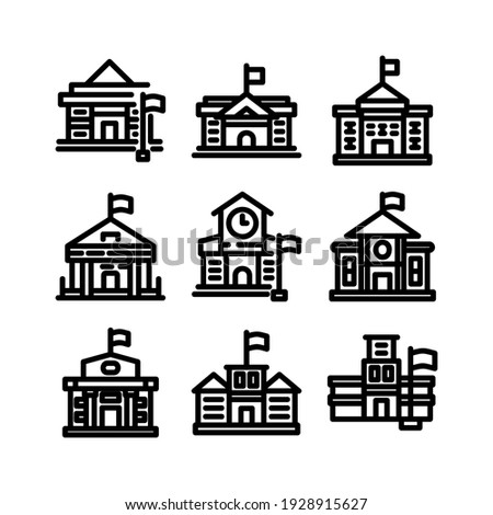 school icon or logo isolated sign symbol vector illustration - Collection of high quality black style vector icons  Сток-фото ©