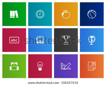 School icon series in Metro style