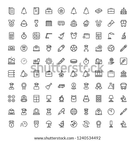 School icon set. Collection of high quality black outline logo for web site design and mobile apps. Vector illustration on a white background.
