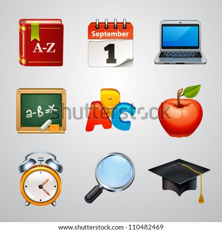 School icons-set 2