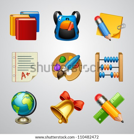 School icons-set 4