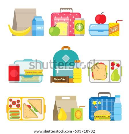 school lunch boxes set