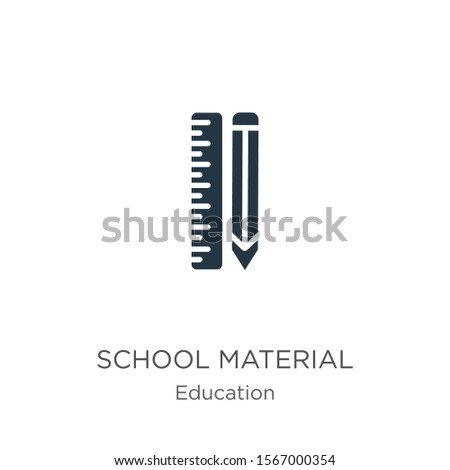 School material icon vector. Trendy flat school material icon from education collection isolated on white background. Vector illustration can be used for web and mobile graphic design, logo, eps10