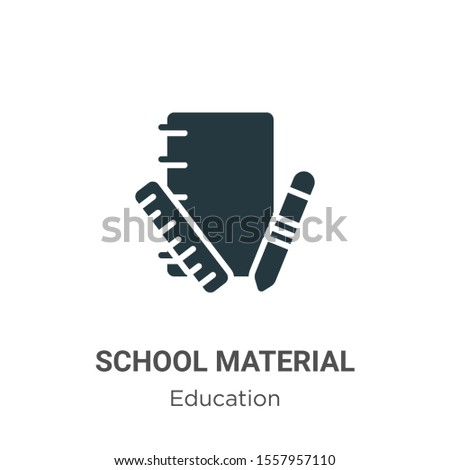 School material vector icon on white background. Flat vector school material icon symbol sign from modern education collection for mobile concept and web apps design.