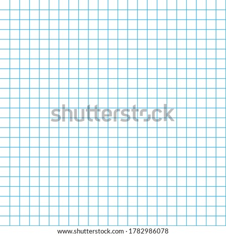 School notebook texture blank sheet. Vector seamless pattern paper exercise book in a cell. Pattern in a cage Stockfoto ©