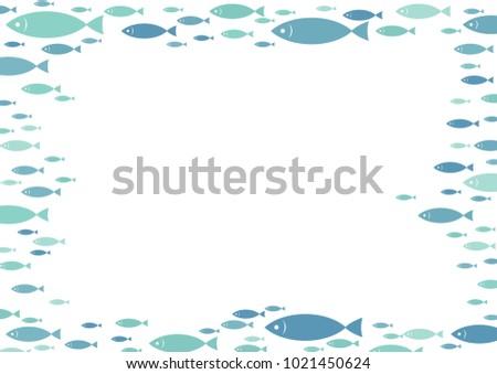 school of mackerel fish are