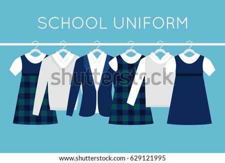 school or college uniforms on